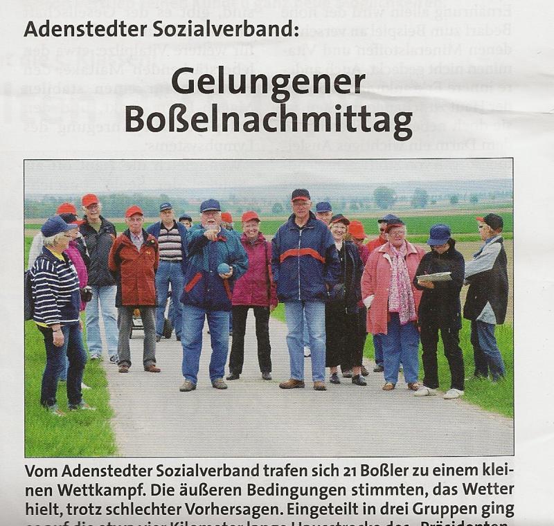 www.gelbesblatt.info Gelungener Boßelnachmittag des Sozialverbandes