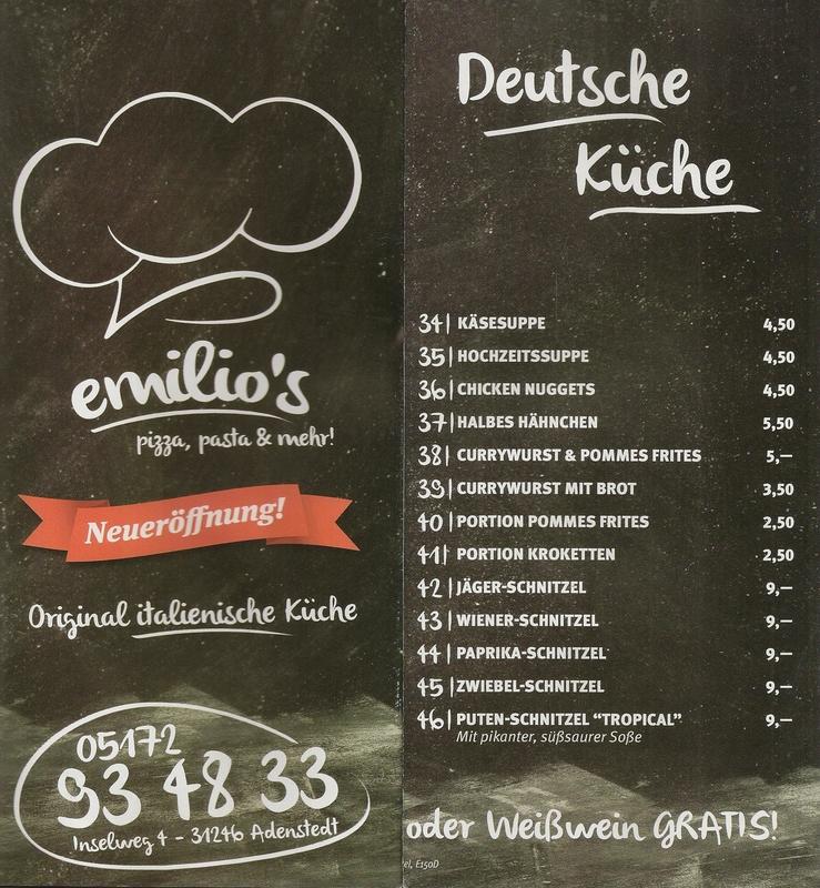 www.gelbesblatt.info Speisekarte emilios