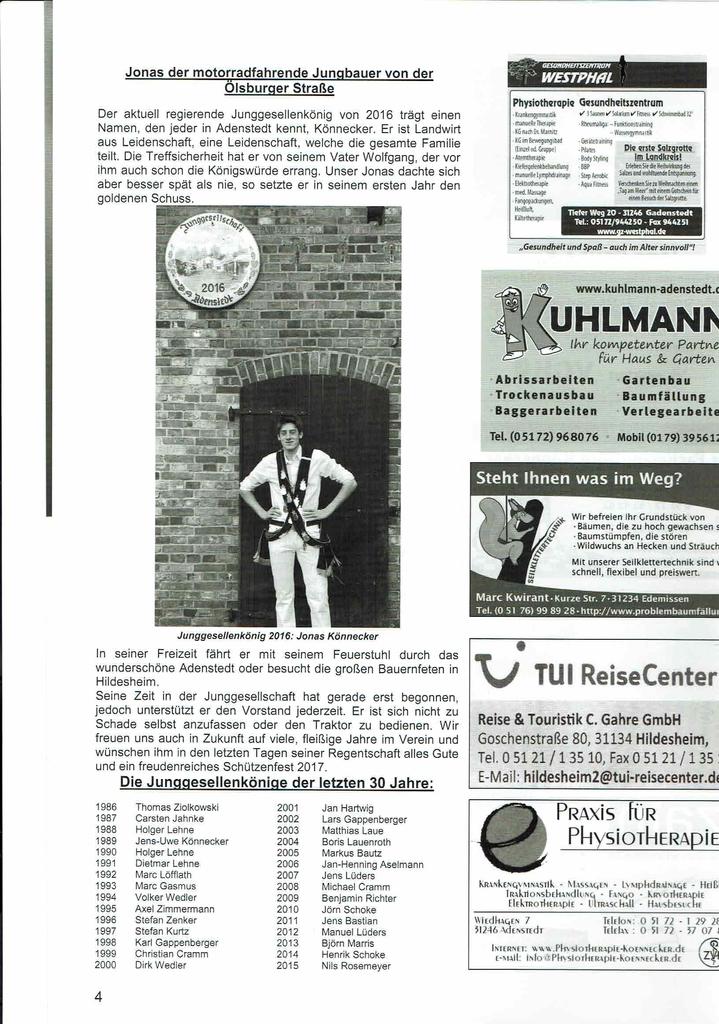 www.gelbesblatt.info Festschrift der Junggesellschaft