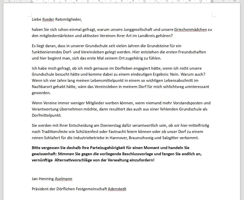 www.gelbesblatt.info DFGA gegen Schulschließung