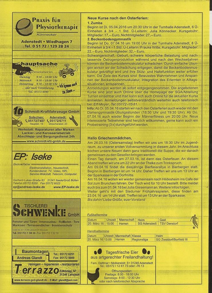 www.gelbesblatt.info adenstedt aktuell - Ausgabe 113-115 - März 2016