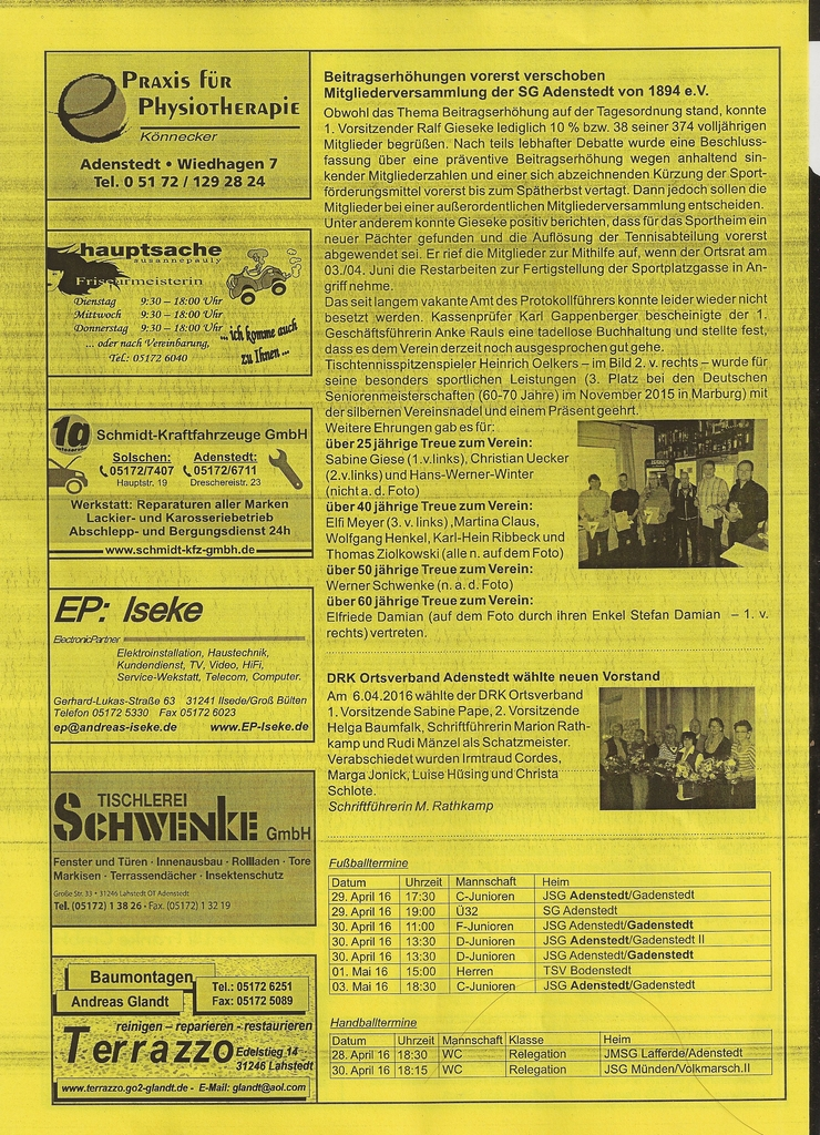 www.gelbesblatt.info adenstedt aktuell - Ausgabe 116-119 - April 2016