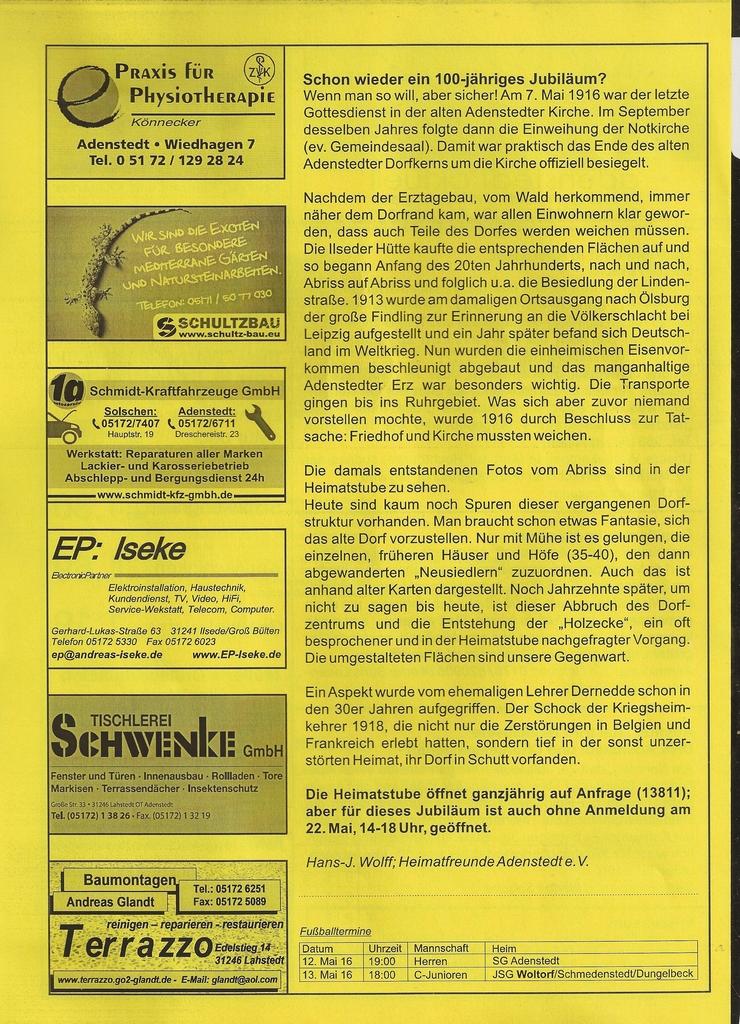 www.gelbesblatt.info adenstedt aktuell - Ausgabe 120-122 - Mai 2016