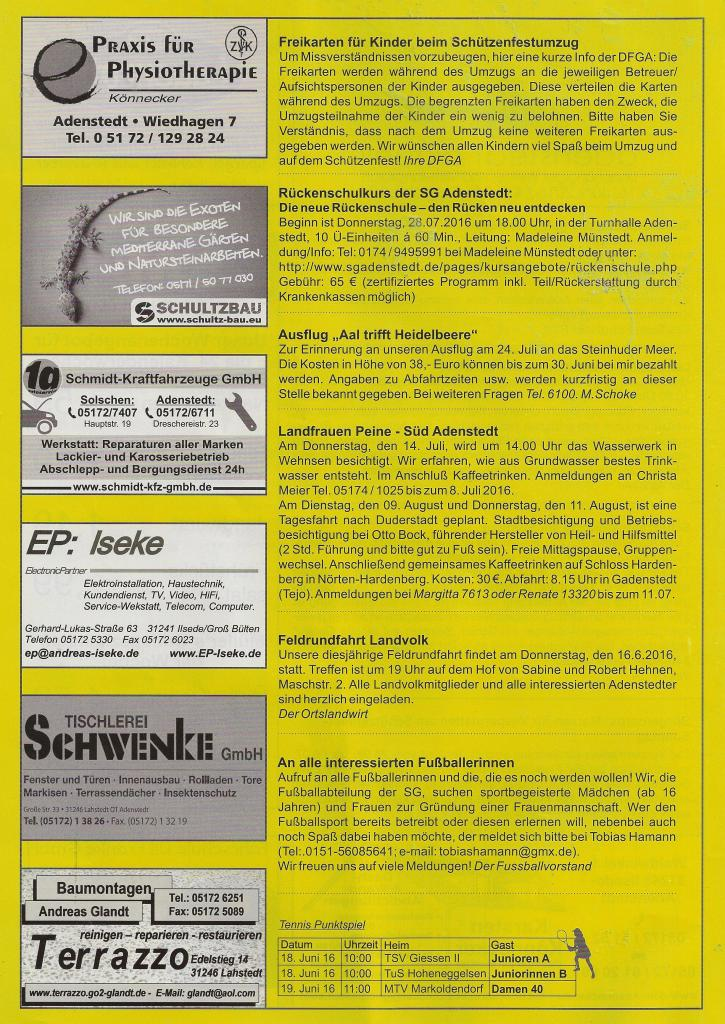 www.gelbesblatt.info adenstedt aktuell - Ausgabe 123-125 - Juni 2016